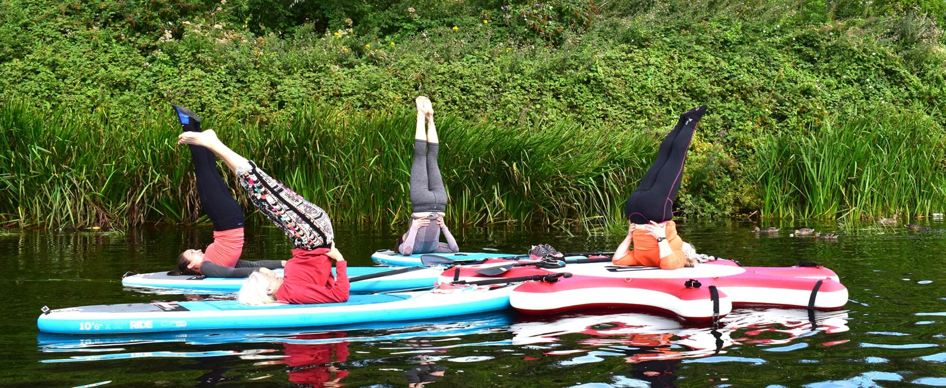 Stand Up Paddleboard Yoga in the Wye Valley and Forest of Dean banner