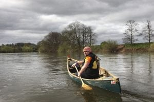 Your instructor Wayne from Way2Go Adventures in his Canoe on the River Wye