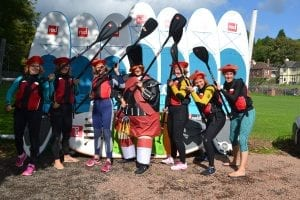 Hen Party Stand Up Paddleboarding Wales