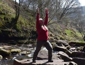 Yoga teacher Di