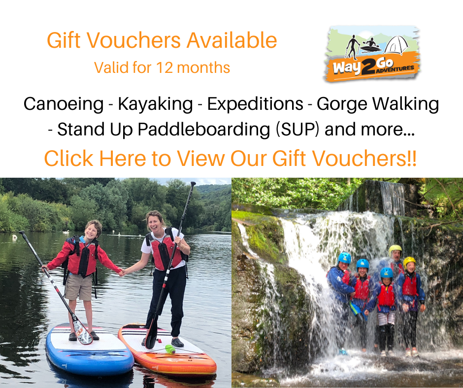 Way2Go Adventures - outdoor activity vouchers including canoeing kayaking and SUP